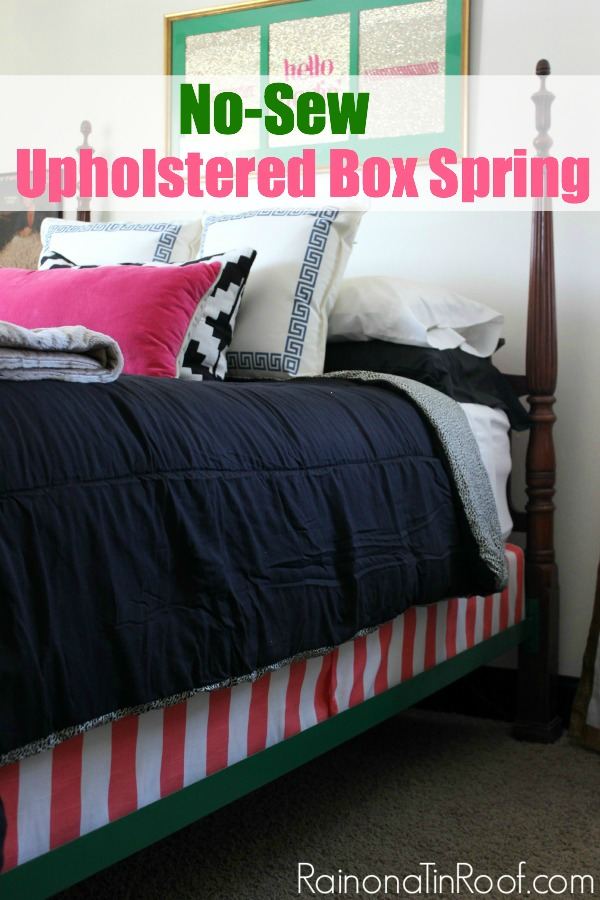 DIY Upholstered Box Spring | Upholstered Bed | Upholstered Box Spring DIY | Fabric Covered Box Spring | How to Upholster a Box Spring