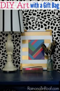 DIY Wall Decor with a Gift Bag {15 on Friday}
