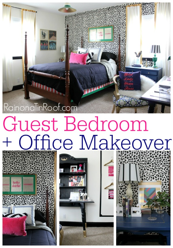 Guest Bedroom + Office Reveal {Guest Bedroom Ideas} Via RainonaTinRoof.com # Guestbedroom