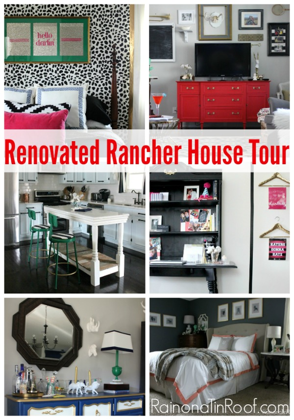 Ranch Style House Tour via RainonaTinRoof.com #ranchhouse #housetour #renovation #rancher