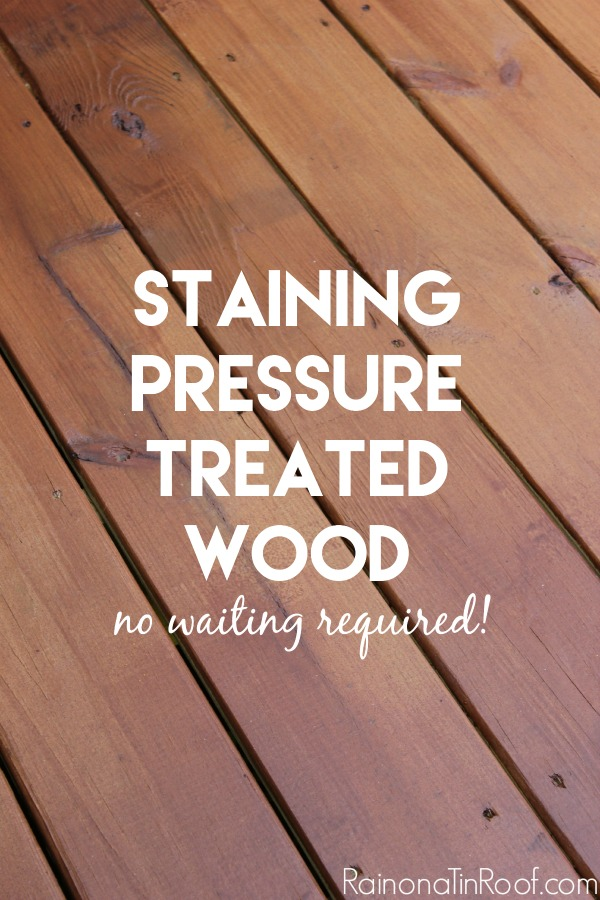 Can Pressure Treated Wood Be Stained Or Painted