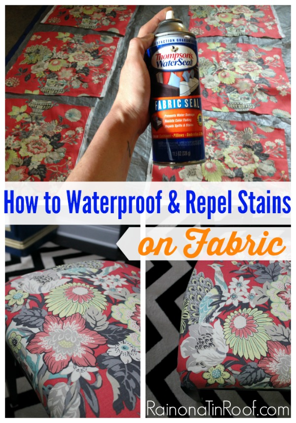 How To Waterproof Fabric And Repel Stains | Waterproof Fabric DIY |  Waterproof Fabric Spray |