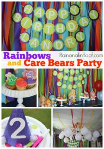 Care Bear and Rainbow Party {I Survived….Barely}