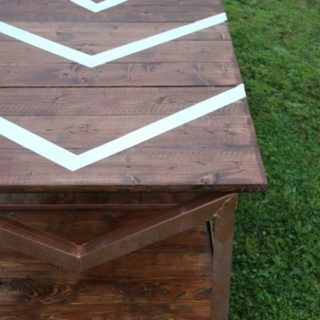 Industrial DIY Coffee Table from a Yard Sale Cart