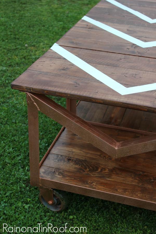 Industrial DIY Coffee Table via RainonaTinRoof.com #diycoffeetable #diy #industrial