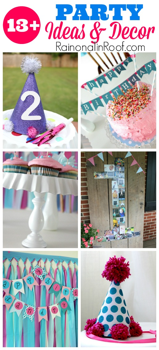 Parties ideas decor rain on a tin roof for These diy party decorations are incredible