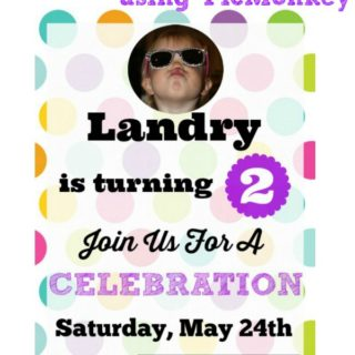 DIY Party Invitation using PicMonkey