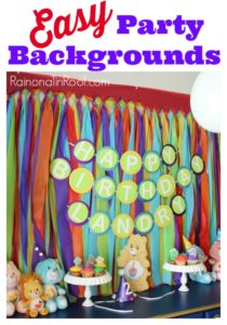 Easy Party Backgrounds for $10 or less