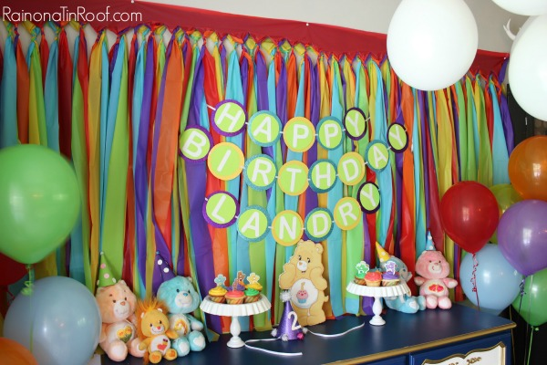 Care Bear And Rainbow Party Via RainonaTinRoof Kids