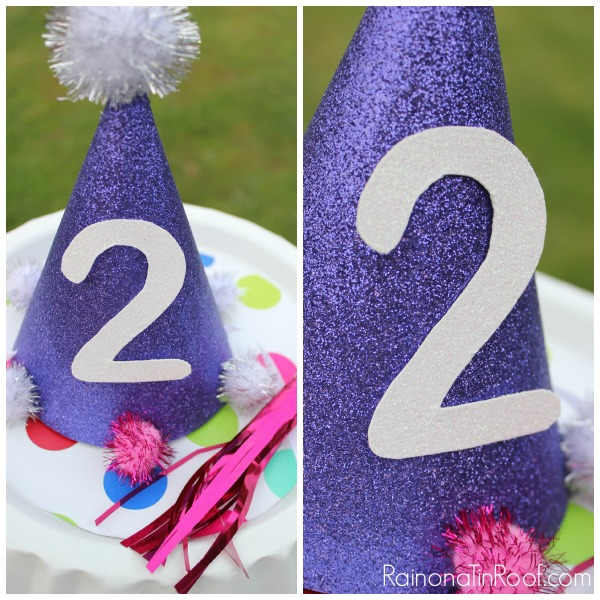 DIY Birthday Hat via RainonaTinRoof.com #birthday #partyhat #kids