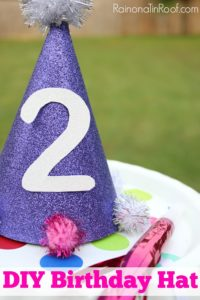 DIY Birthday Hat…Another reason I'm not the kid's favorite parent…
