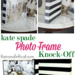 Kate Spade Knock-Off Photo Frame via RainonaTInRoof.com #katespade #knockoff #photo #diy #craft