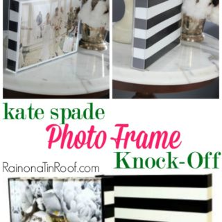 Kate Spade Knock-Off Photo Frame for $5 in 15 minutes