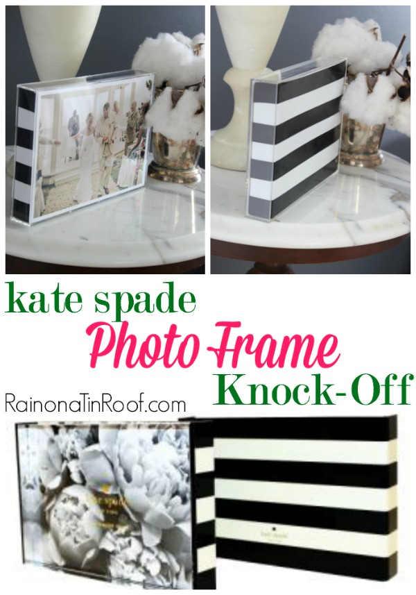 DIY Kate Spade Photo Frame Knock-Off | Kate Spade Crafts | DIY Kate Spade Decor | DIY Kate Spade Office