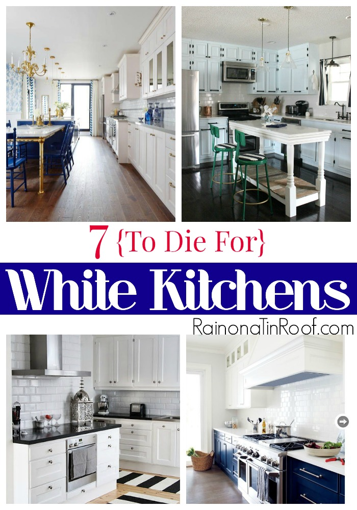 White Kitchens | Kitchen Decorating Ideas | Kitchen Makeover Ideas | Black and White Kitchens | Navy and White Kitchens