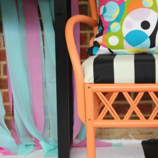 Orange, Black & White Chair Makeovers