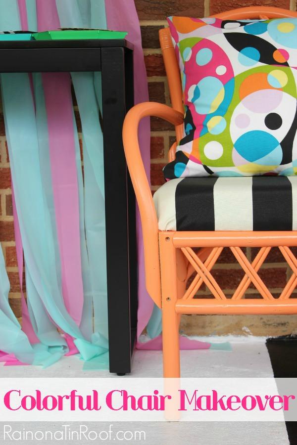 Orange, Black & White Chair Makeovers