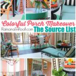 Colorful Screened-In Porch Makeover Source List via RainonaTinRoof.com #porch #sources #color #outdoors #decorating