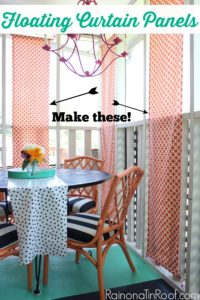 DIY Floating Curtain Panels…Grunt Labor's One Request