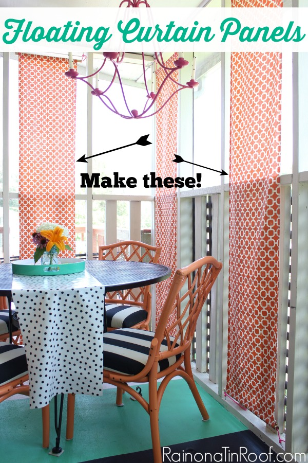 Diy Floating Curtain Panels Outdoor Curtains How To Make