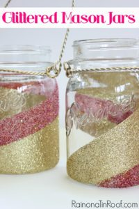 Blinging Out: How to Glitter Mason Jars