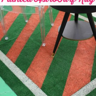 DIY Painted AstroTurf Rug {And mysteries of the porch}