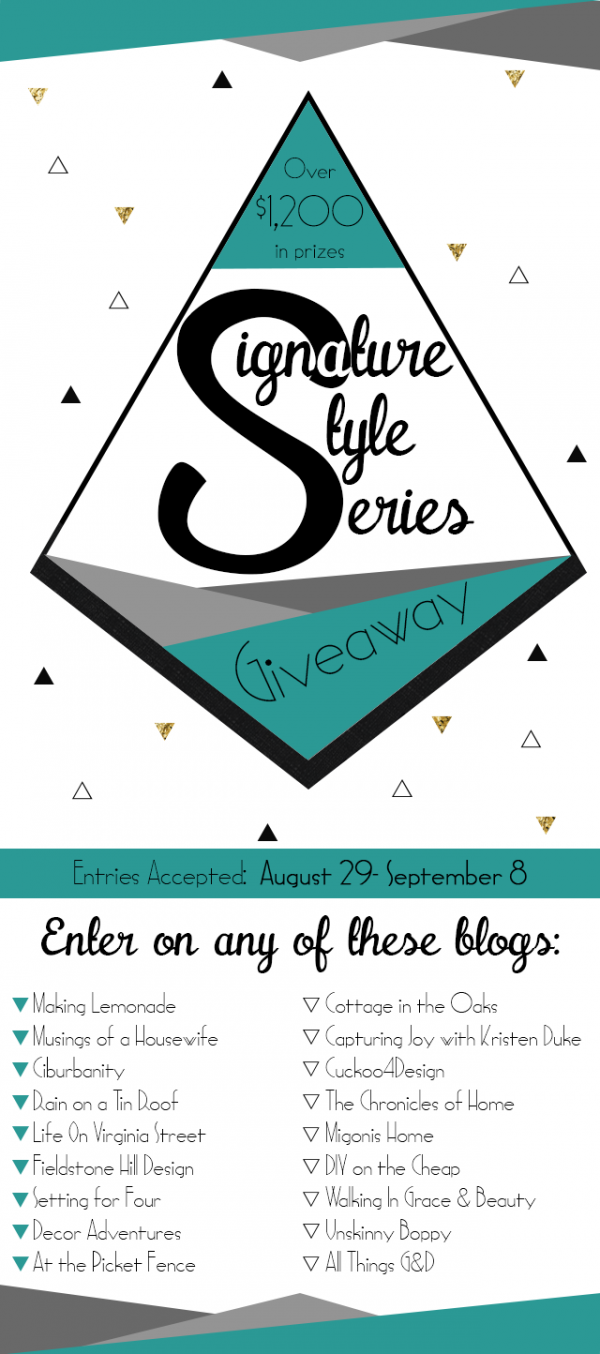 Signature Style Series Giveaway (Over $1200 in Prizes + FIVE WINNERS)