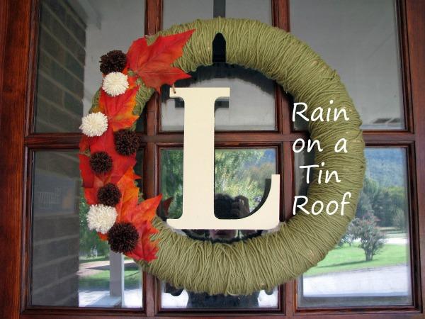 DIY Yarn Wrapped Fall Wreath
