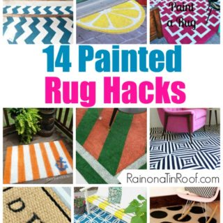 14 Painted Rug Hacks via RainonaTinRoof.com #rug #paint #hack #diy #crafts