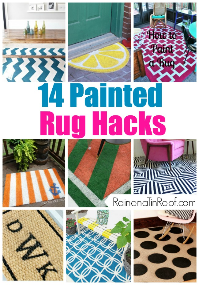 DIY Painted Rug Ideas | DIY Painted Rug Tutorials | Painted Rug DIY | DIY Painted Rug | DIY Painted Rug Outdoor