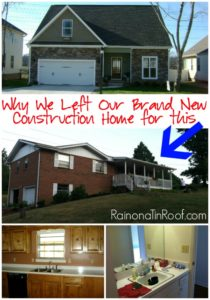 Why We Left Our Brand New Construction Home for a 70's Rancher