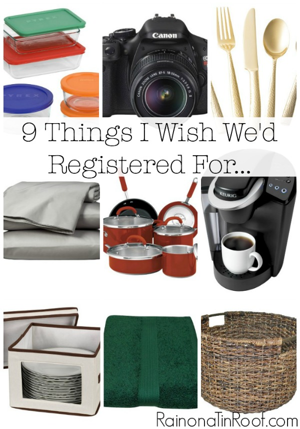 9 Things I Wish We'd Registered For (And What No One Should be Without)