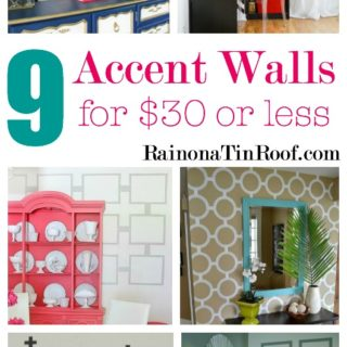 DIY Accent Wall Ideas for $30 or LESS
