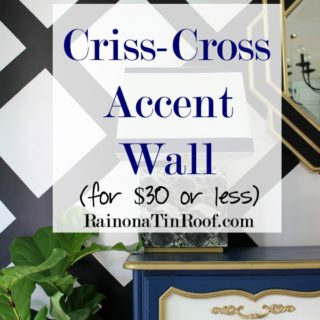 Criss-Cross Accent Wall for $30 or Less