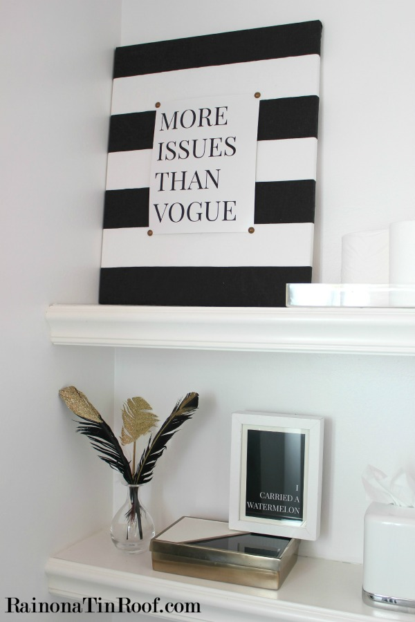 14 Black and White DIY Projects - Black and White Quote Art