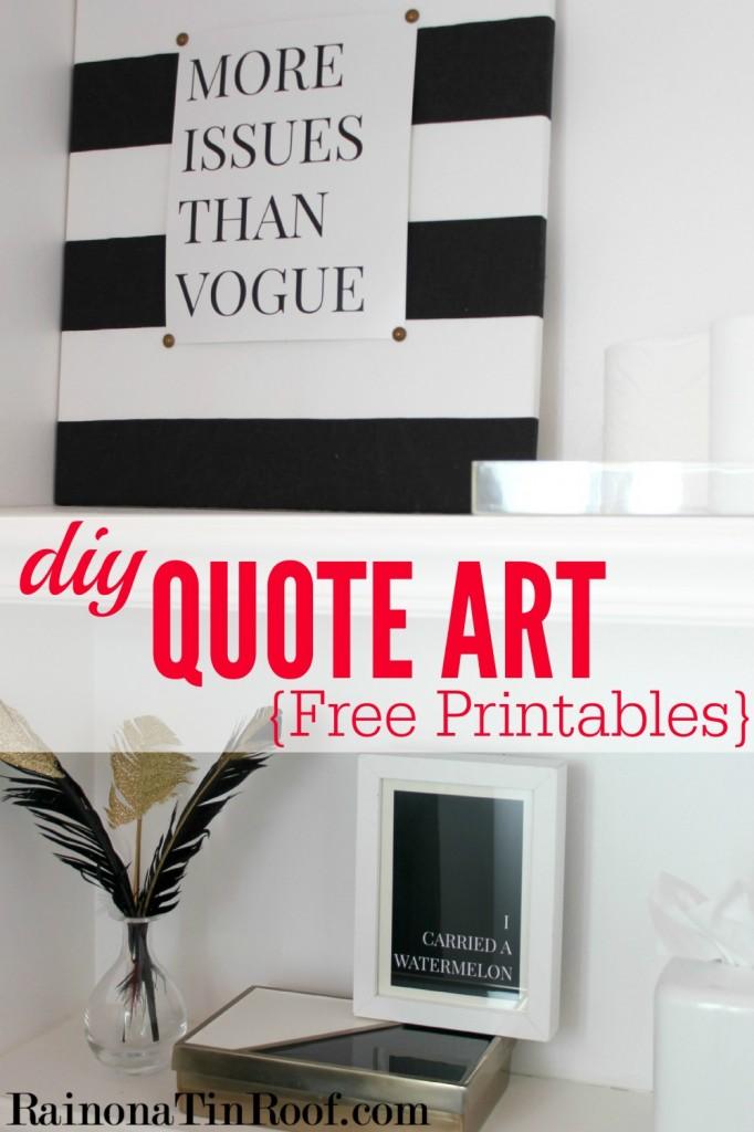 DIY Quote Art {Free Sex and the City & Dirty Dancing Printables} via RainonaTinRoof.com