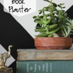 DIY Succulent Book Planter via RainonaTinRoof.com #succulent #ad