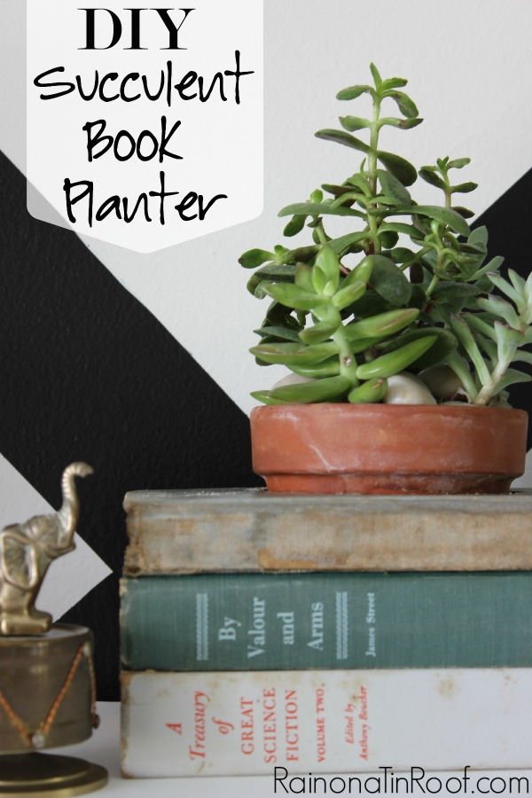 Diy Succulent Book Planter