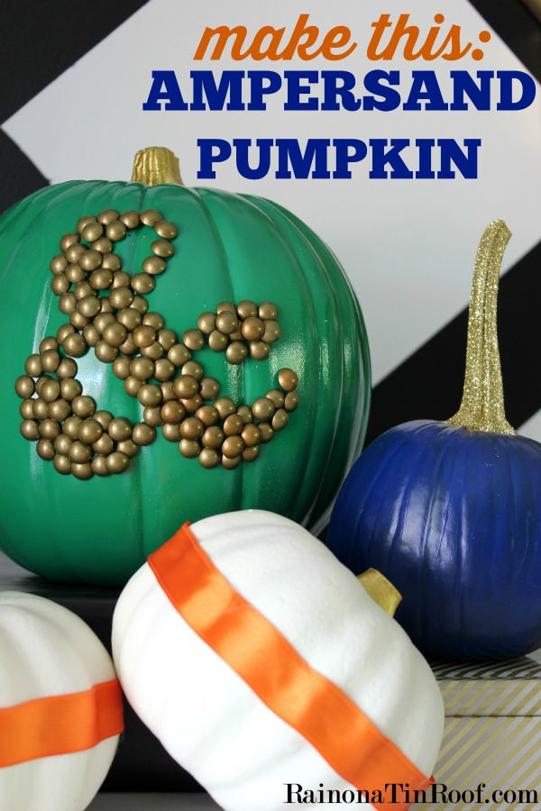 Ampersand Pumpkin via RainonaTinRoof.com ‪#‎fallcrafts‬