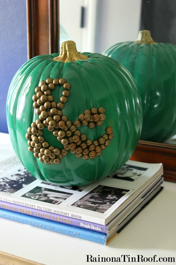 Blue jean jackets, cowboy boots, and pumpkins: Fall Home Tour via RainonaTinRoof.com #falldecor