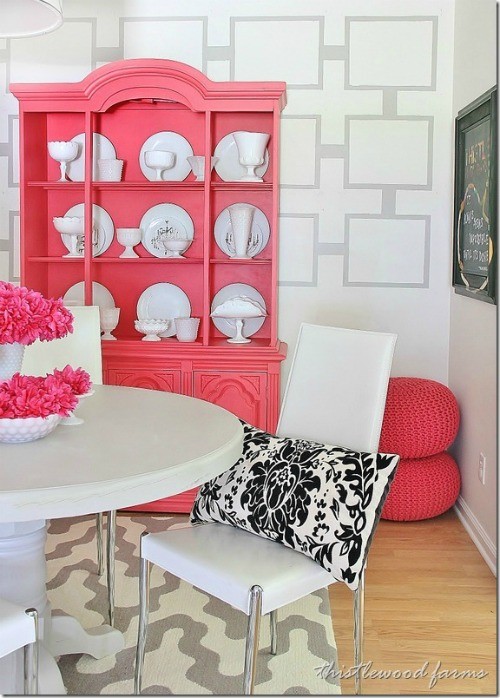 Pink Accent Wall 9 diy accent walls for $30 or less