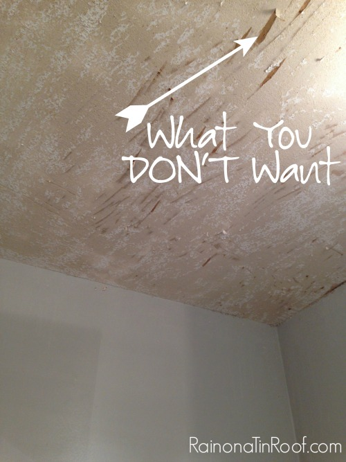 Captivating How (And How Not To) Remove Popcorn Ceilings | How To Remove Popcorn Ceiling