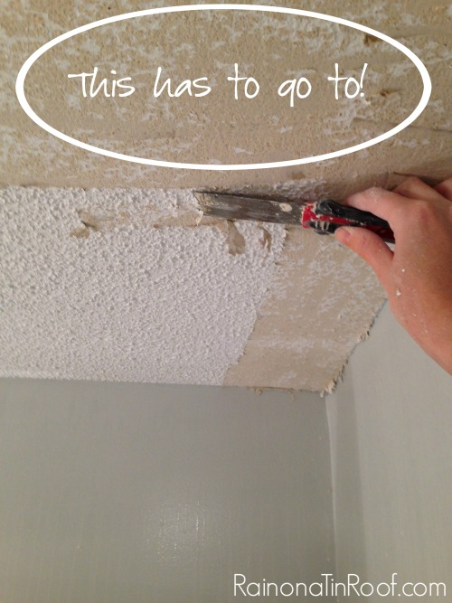 Diy Popcorn Ceiling Removal What I Learned Rain On A Tin Roof