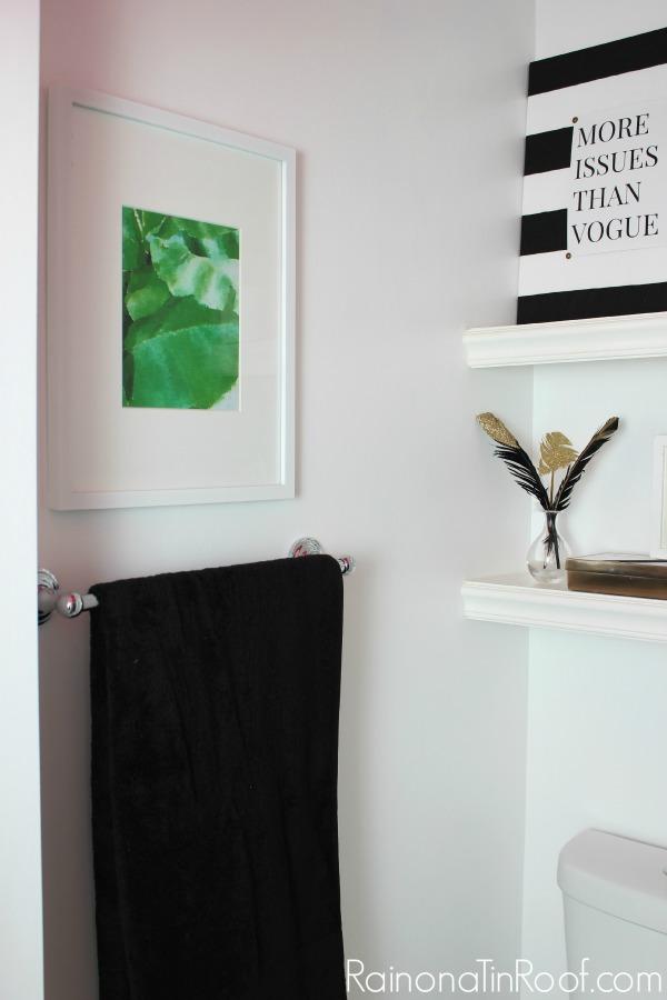 Preppy Meets Hollywood Regency Bathroom Makeover Via RainonaTinRoof