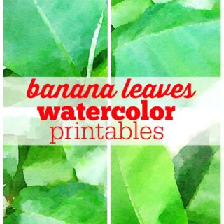 Free Banana Leaves Watercolor Printables