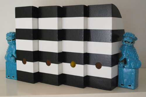 14 Black and White DIY Projects - Painted Black and White Organizers
