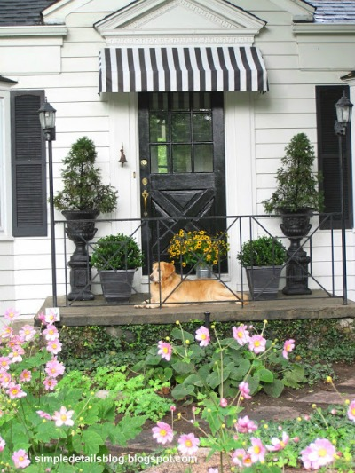 14 Black and White DIY Projects - Black and White Striped Awning