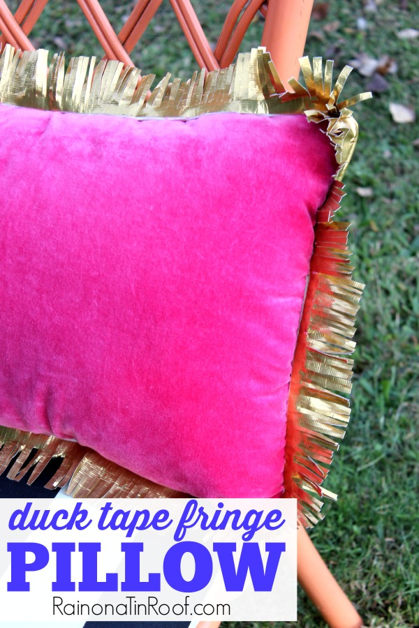 Duck Tape Fringe Pillow: Dress Up Boring Pillows on the Cheap