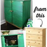 IKEA Tarva Hack: Turn It Into a Drink Bar via RainonaTinRoof.com