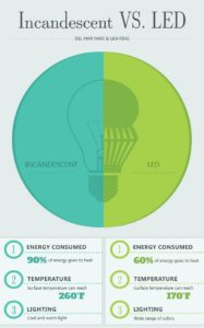 Incandescent vs LED Light Bulbs